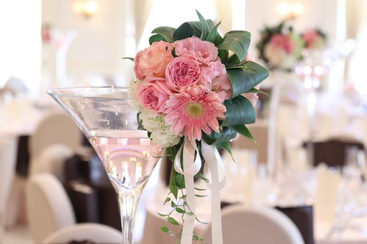 上品な可愛いピンクの装飾